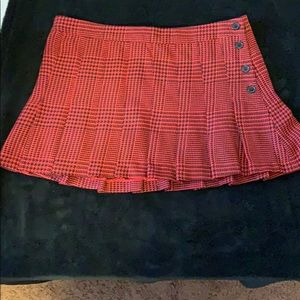 Miley Cyrus Black And red plaid schoolgirl skirt